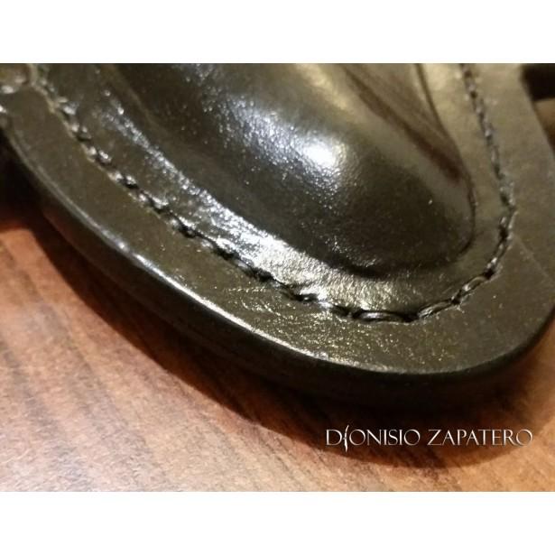 Cross draw leather sheath