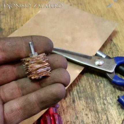 Bronze washers making 3