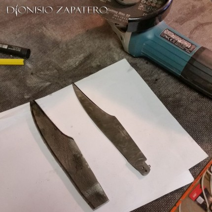 Navaja blade in progress