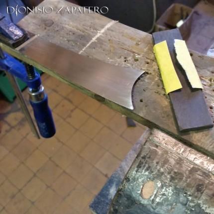 Birrittedda blade hand sanding