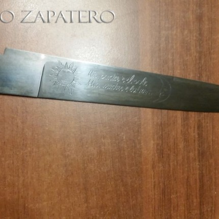 Tool alloy blued blade for Sfarziglia Napoletana
